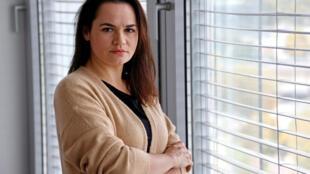 Svetlana Tijanóvskaya, líder opositora bielorrusa asilada en Lituania