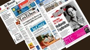 Capa dos jornais franceses Les Echos, Libération, Le Figaro, La Croix, Aujourd'hui en France e Le Monde desta terça-feira, 15 de julho.