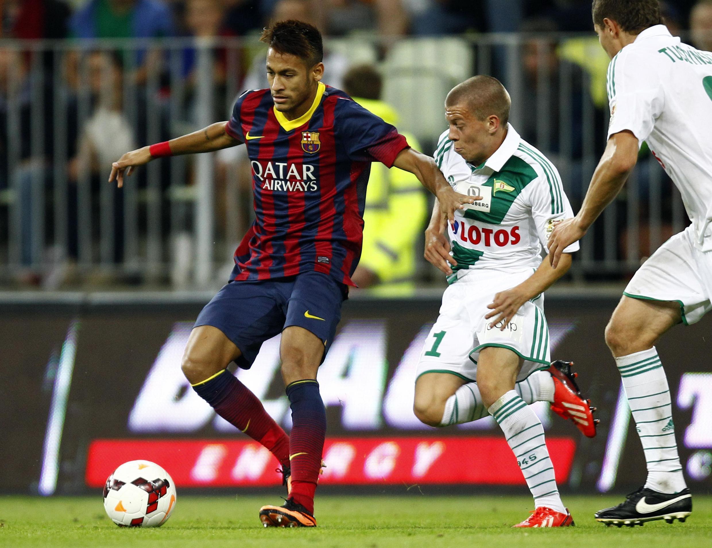O atacante Neymar fez sua estreia pelo Barcelona nesta terça-feira.