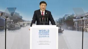 Chủ tịch Trung Quốc Tập Cận Bình phát biểu tại Hội nghị Quốc tế về Internet lần 2, Ô Trấn, Trung Quốc, ngày 16/12/2015.