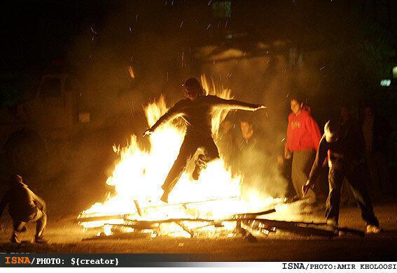 جشن چهارشنبه سوری  -تصویر سال ١٣٩٦