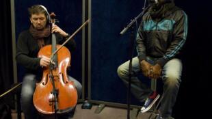 Vincent Courtois et Ze Jam Afane au studio 136