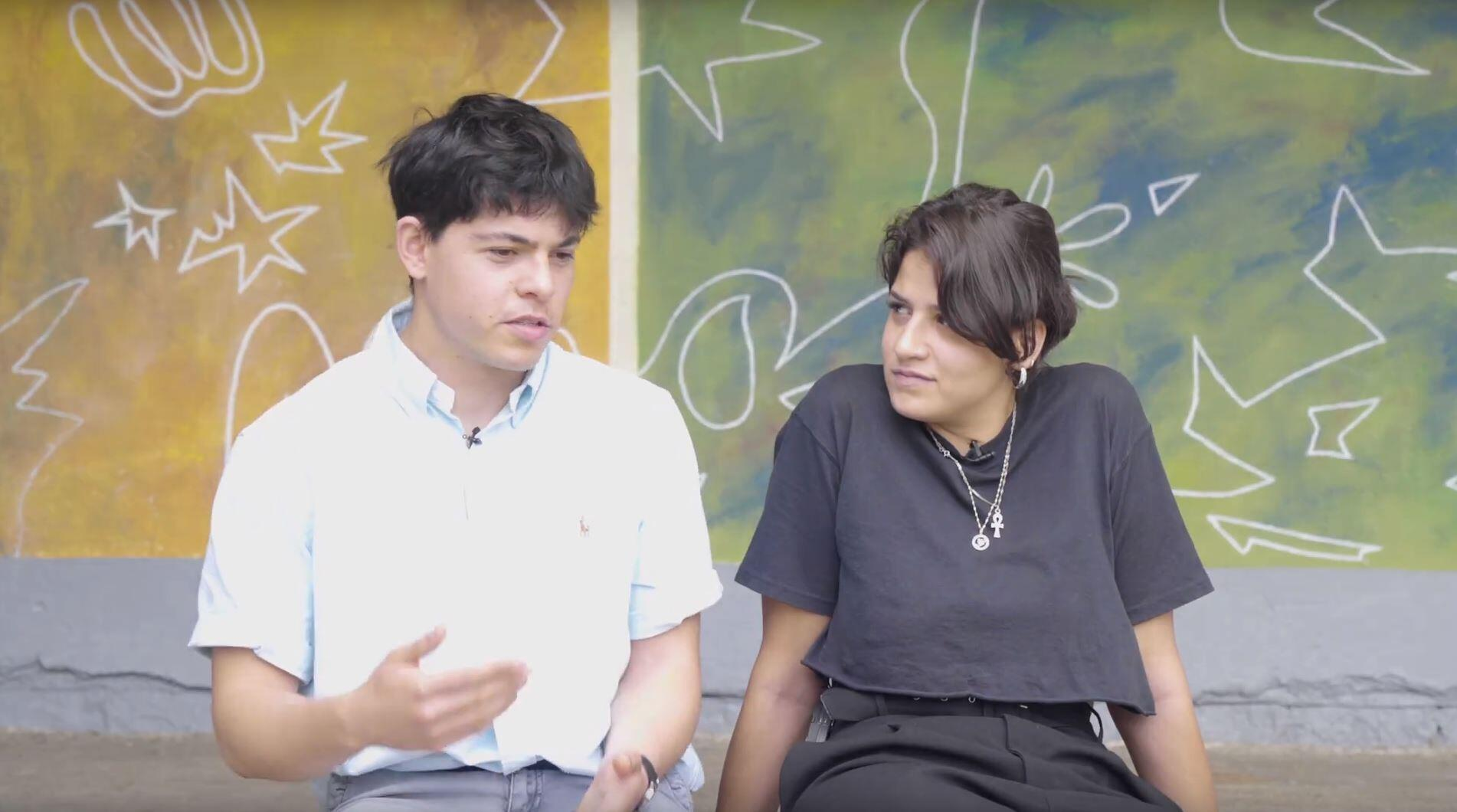 Capture d'écran extraite de la vidéo : W4R 2019, Greece - Sarah Mardini and Seán Binder.