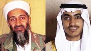 اسامه بن لادن & حمزه بن لادن پسر بنیانگذار القاعده