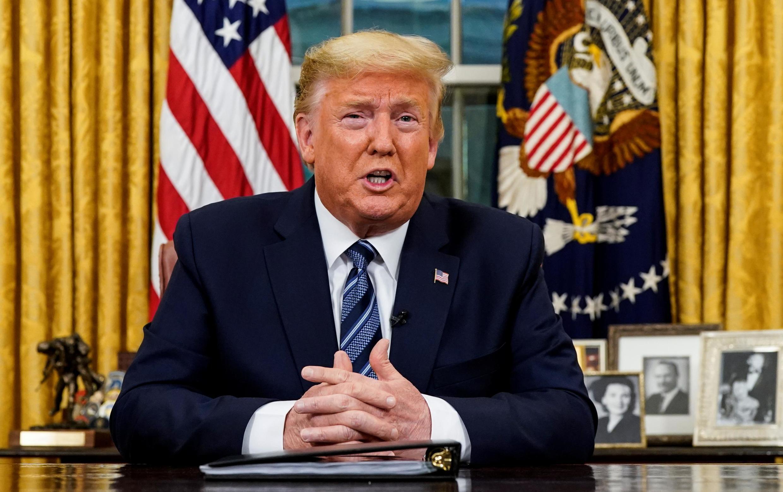 Le président américain Donald Trump lors de son allocution, mercredi 11 mars 2020, pour annoncer les mesures pour lutter contre le coronavirus.
