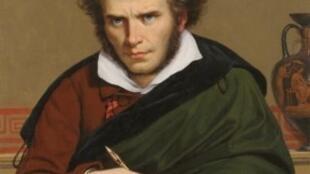 Réplica de Paul Carpentier, a partir de un autorretrato de Girodet.