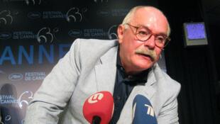 Н. Михалков на пресс-конференции в Каннах.