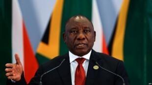 Rais wa Afrika Kusini Cyril Ramaphosa, ambaye mtotot wake amekiri kupewa hongo wakati wa utawala wa Jacob Zuma.