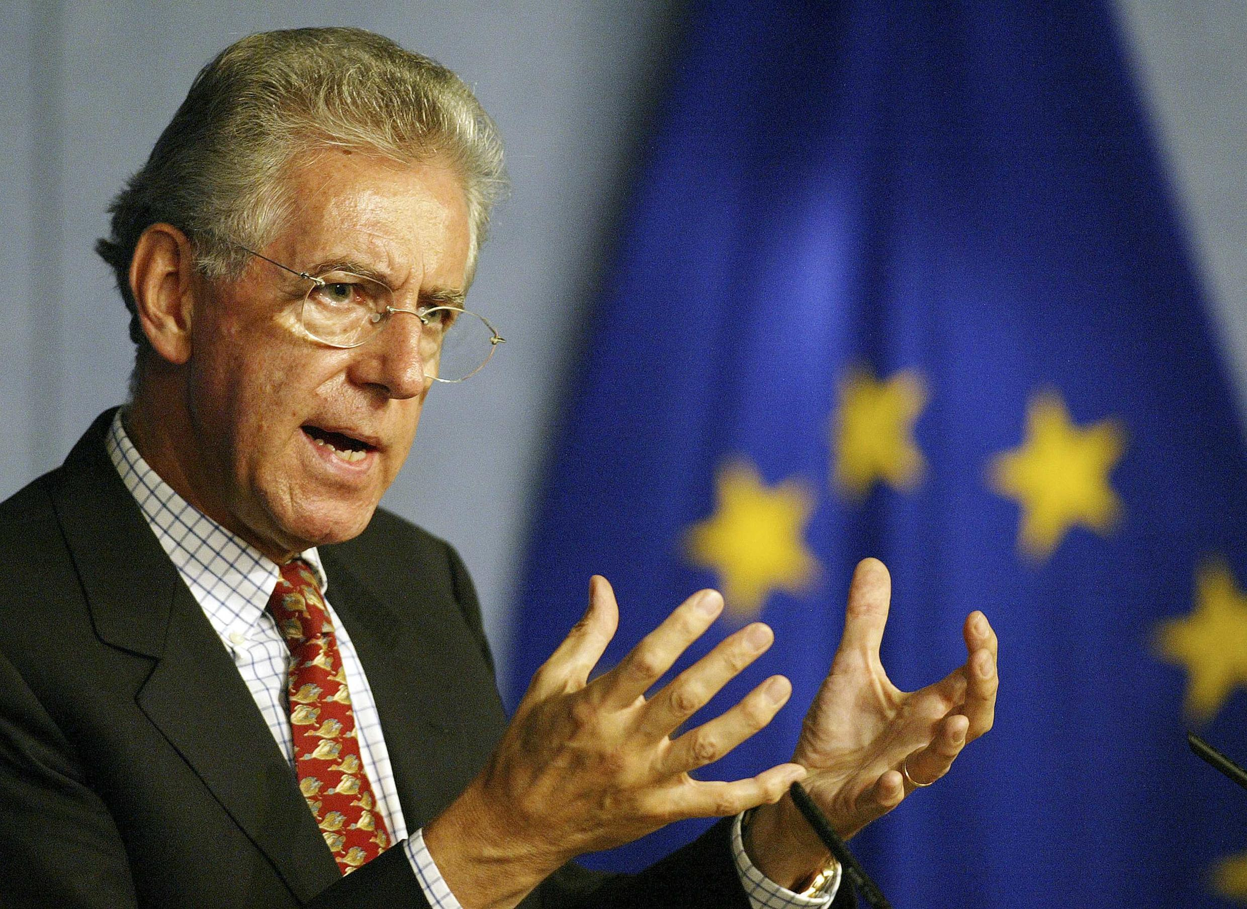 Man tipped to replace Silvio Berlusconi as PM, Mario Monti, ahead of crucial vote