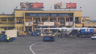 L'aéroport de Kinshasa.