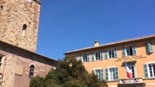 A prefeitura de Fréjus fica no centro medieval da cidade, ao lado da catedral do século 16.