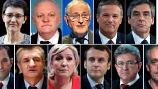 法國2017年總統大選入圍者集合圖