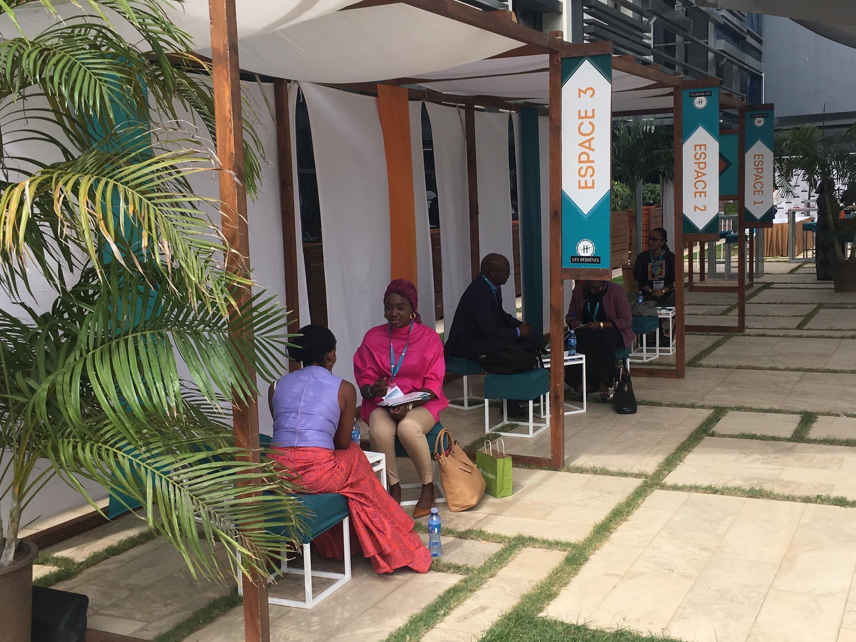 Female entrepreneurs in the Senegalese capital Dakar take part in a workshop to improve their coaching skills, 17 November, 2018