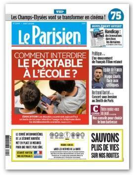Capa do jornal Aujourd'hui en France/Le Parisien desta quinta-feira (6).