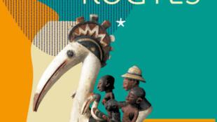 Cartaz sobre odisseia da imigração africana e rotas de Europa no museu Branly de Paris