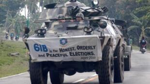 Xe quân sự của quân đội Philippines tuần tra tại Maguindanao.