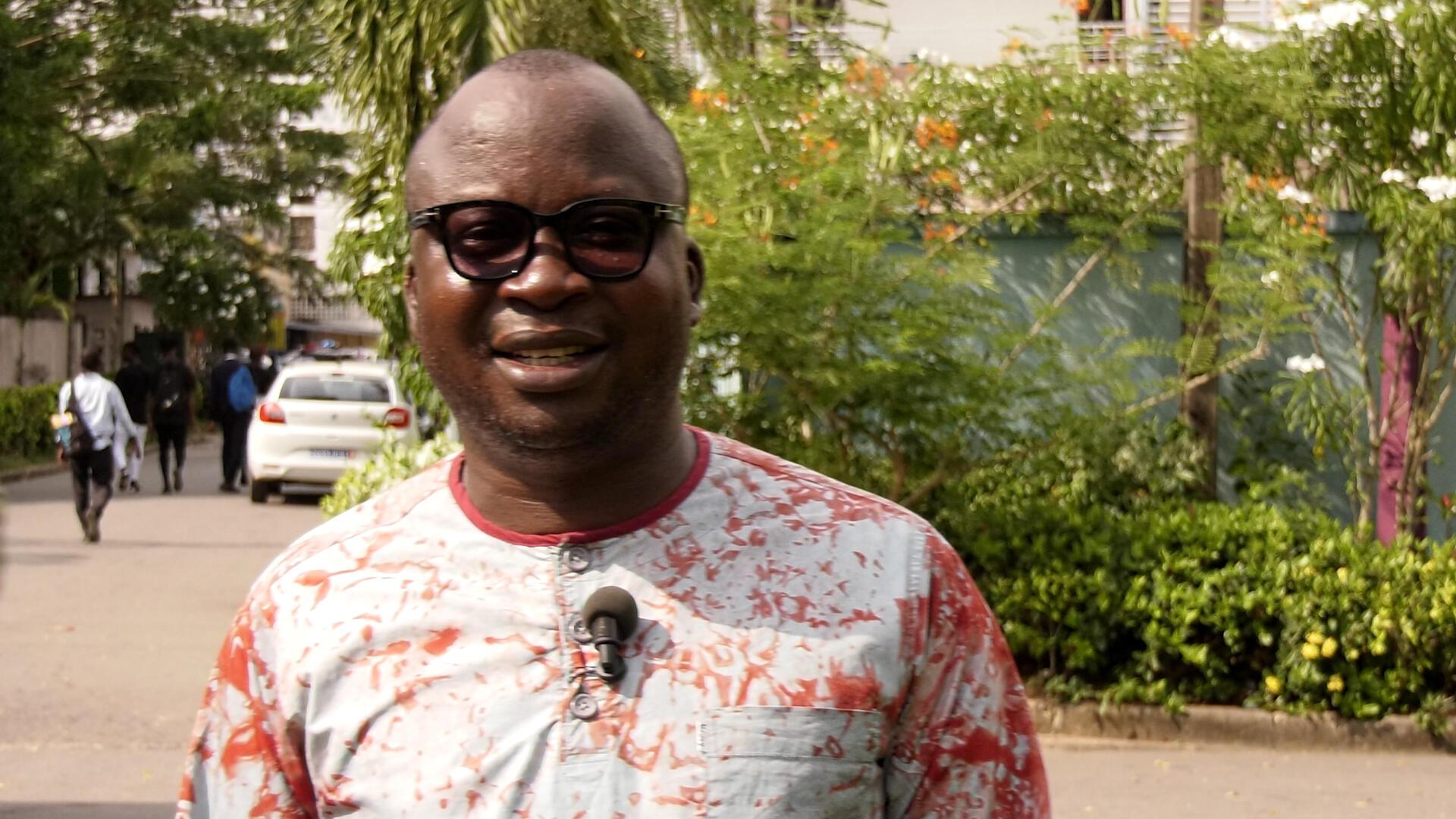 IMAGE L'analyste politique ivoirien, Sylvain N'Guessan, à Abidjan, le 9 mars 2021.