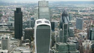 Le principal quartier d'affaires de Londres, la City. Royaume-Uni, juin 2016