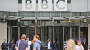 2017年7月19日BBC伦敦总部大门一景