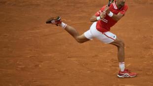 Le Serbe Novak Djokovic lors du tournoi de Rome, le 16 mai 2021