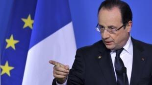 François Hollande, au sommet européen de Bruxelles, le vendredi 15 mars 2013.