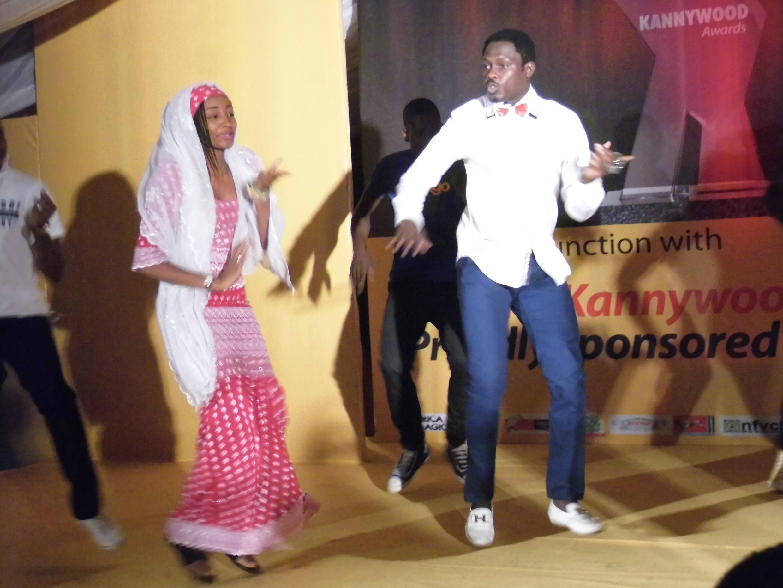 Hausa Movie stars Ali Nuhu dancing with Rahma Sadau