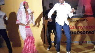 Hausa Movie stars Ali Nuhu dancing with Rahma Sadau