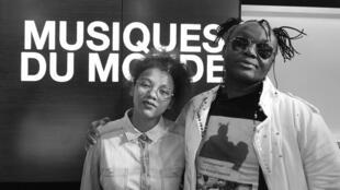 Chrystelle Ratri et Olivier Tshimanga à RFI.