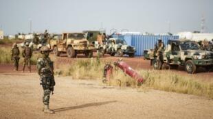 Sojojin Mali a yankin Mopti da ke tsakiyar kasar Mali.