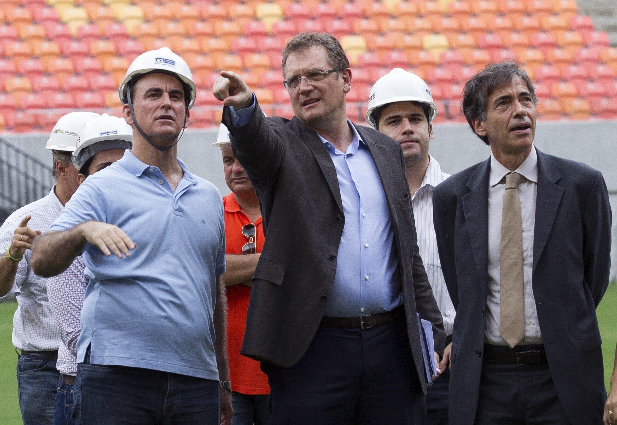 Jerome Valcke visitou as obras do estádio da Amazônia neste domingo 16 de fevereiro.