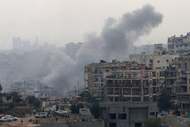 Hari a garin al-Izaa kusa da birnin Aleppo na Syria