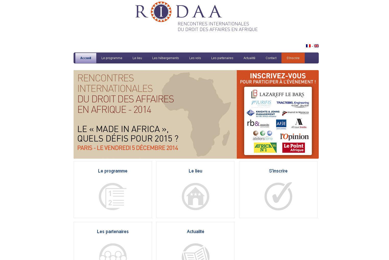 Site des Rencontres internationales du droit des affaires en Afrique.