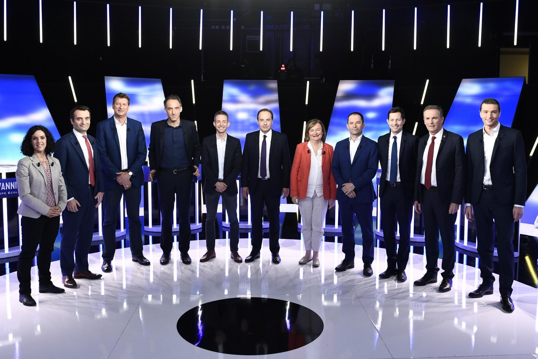 Лидеры 11-ти партийных списков на теледебатах перед выборами в Европарламент. 23 мая 2019