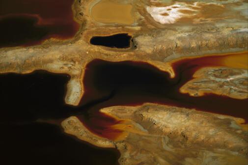 Vue aérienne d'une mine d'or en Afrique du Sud.