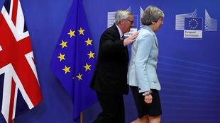 Theresa May and Jean-Claude Juncker, 8 December, 2017 in Brussels