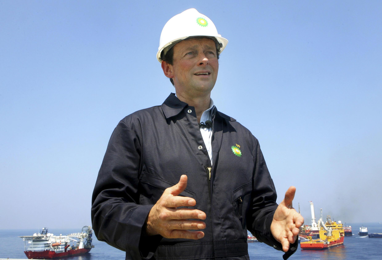 O diretor da BP Tony Hayward durante declaração à imprensa.