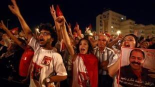 Manifestation contre le gouvernement, à Tunis, le 7 septembre 2013.