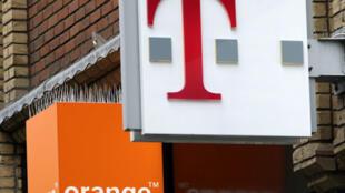 图为一家Orange et T-Mobile店铺