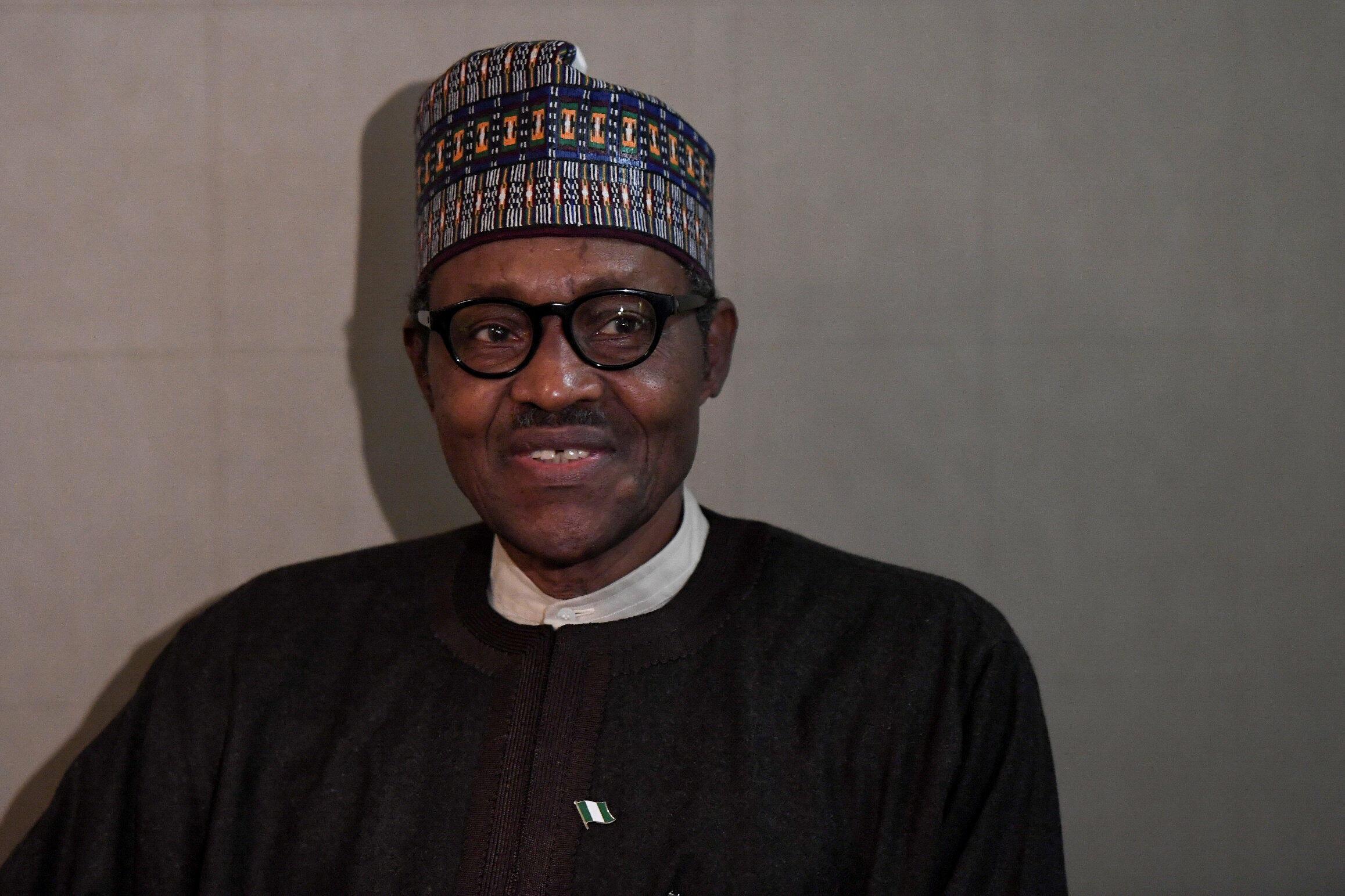 Le président nigérian Muhammadu Buhari aux Nations unies à New York le 28 septembre 2018.