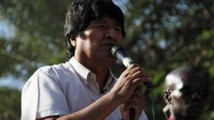 Evo Morales, durante su discurso en el Foro Social Mundial