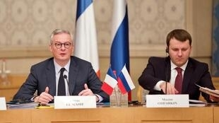 Министры экономики Франции и России Брюно Ле Мэр и Максим Орешкин в Москве, 10 декабря 2019 года