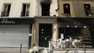 The scene of the Paris Opéra hotel fire in 2005