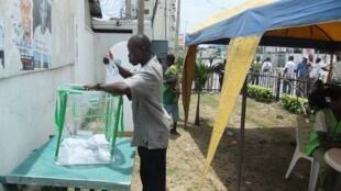 Moja ya vituo vya kupigia kura nchini Nigeria