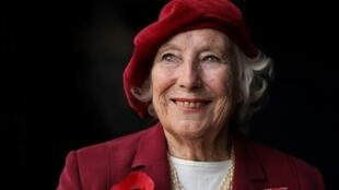 British performer Vera Lynn at a photo session in 2009