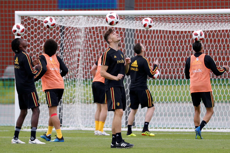 Đội tuyển Bỉ trong một buổi tập luyện tại trung tâm thể thao Dedovsk, Nga - ngày 09/07/2018.