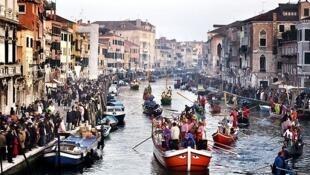 Turistas em Veneza.