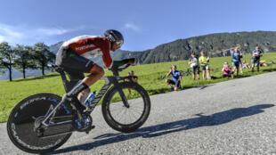 Nelson Oliveira, ciclista português da equipa espanhola Movistar.