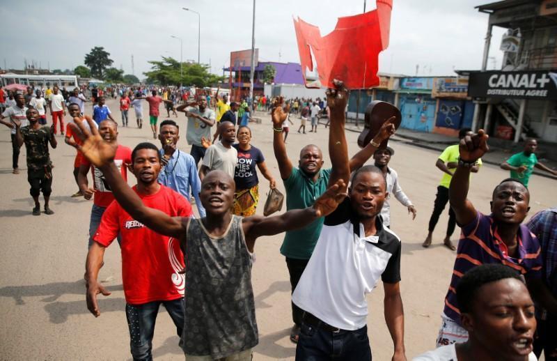 Manifestation contre le président Joseph Kabila à Kinshasa (RDC), le 20 décembre 2016.