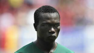 Vincent Aboubakar sous le maillot du Cameroun, ici le 29 mai 2010, à Klagenfurt.