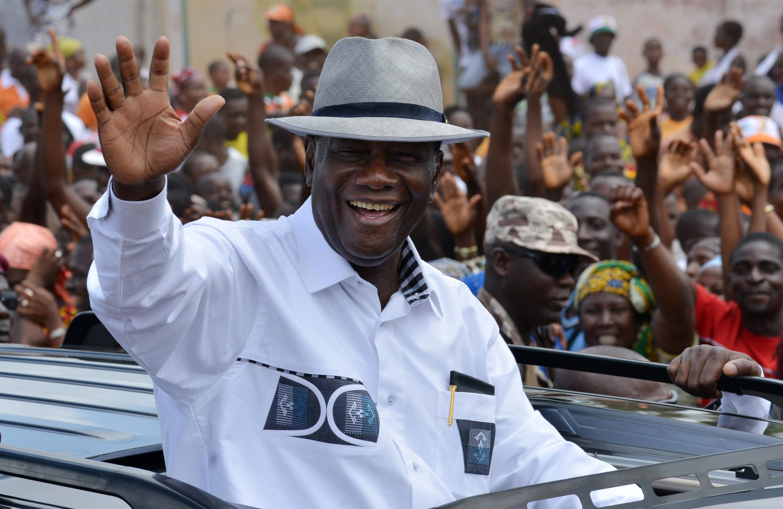 Le président de la Côte d'Ivoire, Alassane Ouattara, le 28 septembre 2015.
